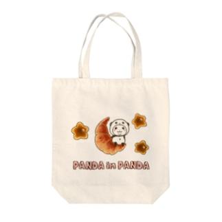 パンダinぱんだ(パン) Tote bags