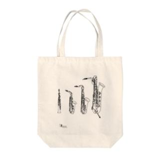 saxophones Tote bags