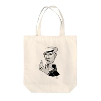 SASAKURE COMIC HEADS  Tote bags