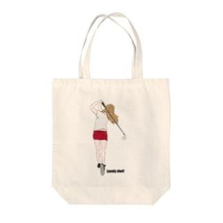 golf girl Tote bags