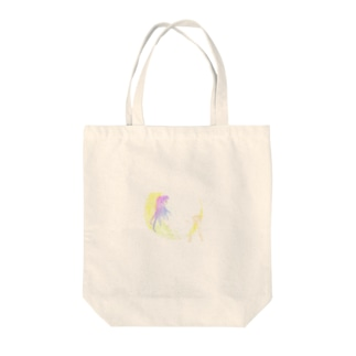star girl sit on moon Tote bags