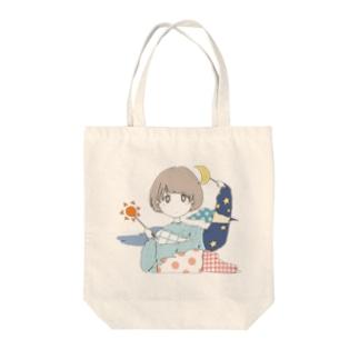 お天気ガール Tote bags