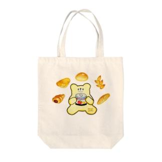 Kumaぱん Tote bags