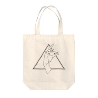 手遊び・狐 Tote bags