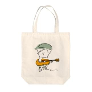ギターとぼく Tote bags