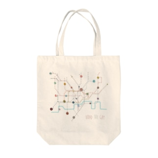 London Tube Map Tote bags