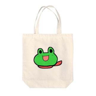 カエルンジャー(赤) Tote bags