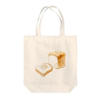ふんわり食パンとはむちゃん Tote bags