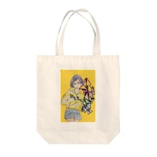 女の子イラスト Tote bags