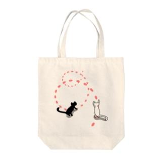 花見猫 Tote bags