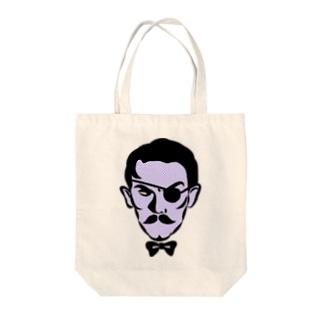 悪のおっさん Tote bags