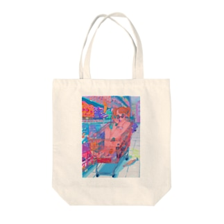 GO GO SHOPPING Tote bags