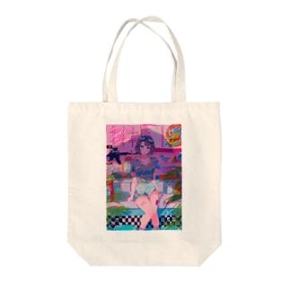ダイナー・ダイナソー Tote bags