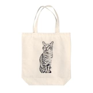 ちばっちょ【ち畳工房&猫ねこパラダイス】のトラ猫トラ君 Tote bags