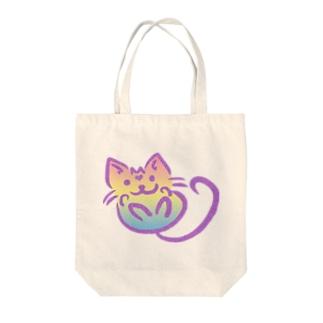 ふわニャンコ Tote bags