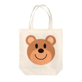 茶クマ Tote bags