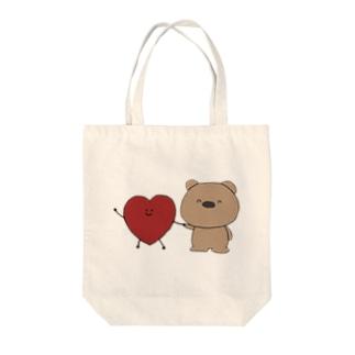 はーとちゃんとくまくん(heazu) Tote bags