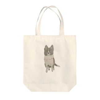 I♥︎BORDER COLLIE sit series Tote bags