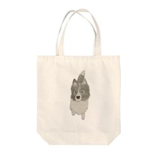 I♥︎BORDER COLLIE onedari series Tote bags