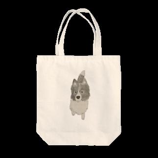 aibouのI♥︎BORDER COLLIE onedari series Tote bags