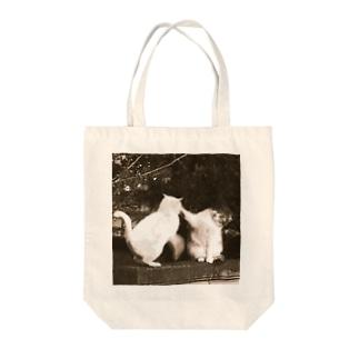 なげやりパンチング Tote bags