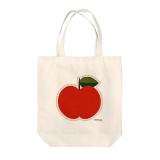 りんごのアップリケ トートバッグ