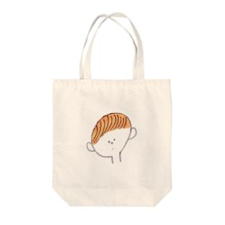 くるりん前髪 Tote bags