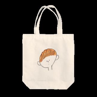 ゆきんこのくるりん前髪 Tote bags