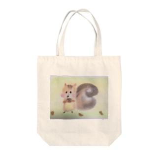 かわいい  りすっちゃん Tote bags