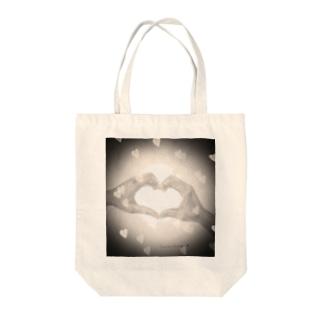 heart-デッサン(クロ) Tote bags
