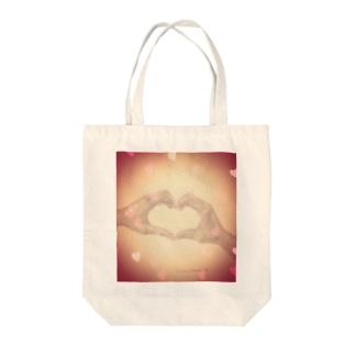 heart-デッサン(アカ) Tote bags