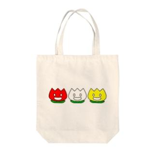 ニコチューリップ Tote bags