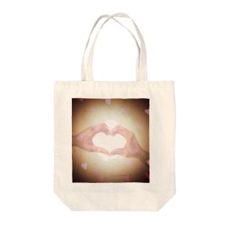 heart-デッサン(チャ) Tote bags