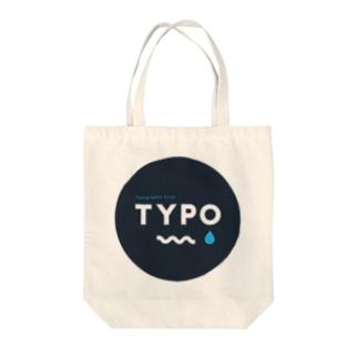 TYPO CIRCLE Tote bags