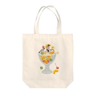 みつ豆桜文鳥 Tote bags