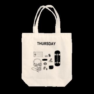 YUのTHURSDAY Tote bags