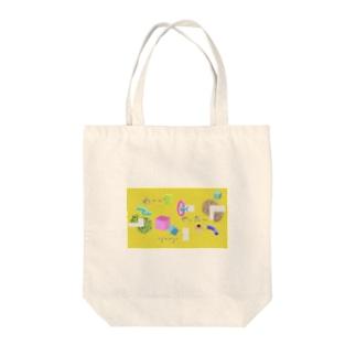 3D黄 Tote bags