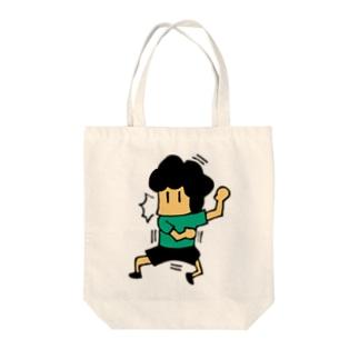 水本ビックリ Tote bags