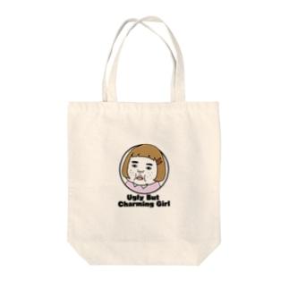 憎めないブスEnglish Tote bags