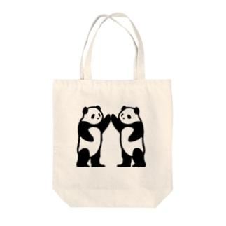 トンネルパンダ Tote bags