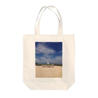 ビーチパラソル Tote bags