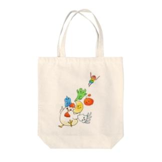そこほれ!チャコフさん一周年記念イラスト Tote bags