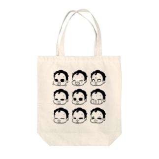 ぼくちんのきもち_Black Tote bags