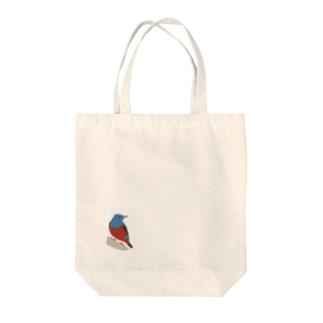 イソヒヨドリ Tote bags