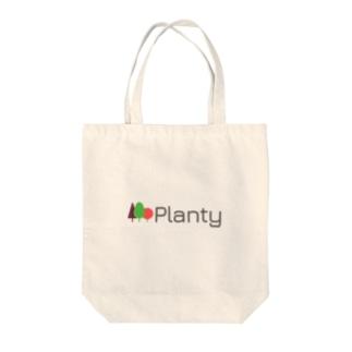 "Planty グッズ - 世界を向上させる大麻メディア ""プランティ""のロゴTシャツ Tote bags"