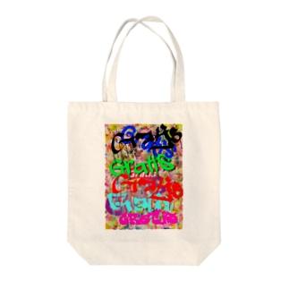 ペンキアート Tote bags