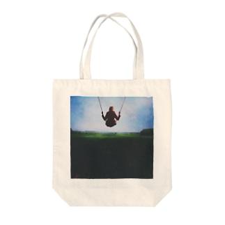 空中ブランコ Tote bags