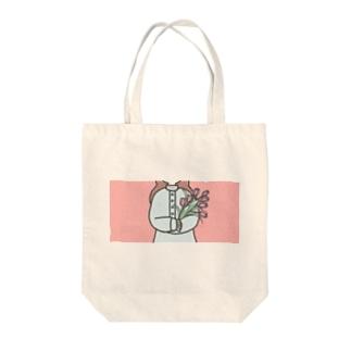 チューリップ Tote bags