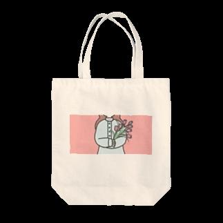鹿ちゃんのチューリップ Tote bags