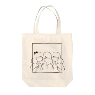 3 girls Tote bags
